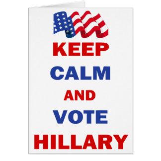 Guarde la calma y vote a Hillary Felicitacion