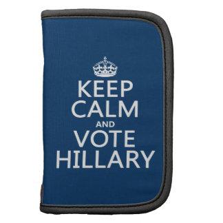 Guarde la calma y vote a Hillary Planificador
