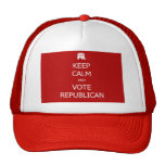 Guarde la calma y vote al republicano gorras