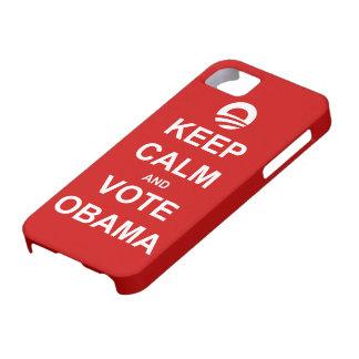 Guarde la calma y vote el caso 2012 del iPhone 5 Funda Para iPhone SE/5/5s