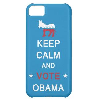 Guarde la calma y vote el caso del iPhone de Obama Carcasa iPhone 5C