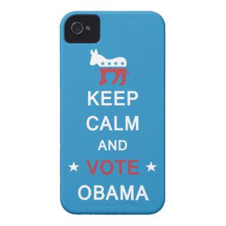 Guarde la calma y vote el caso del iPhone de Obama Carcasa Para iPhone 4 De Case-Mate