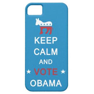 Guarde la calma y vote el caso del iPhone de Obama Funda Para iPhone SE/5/5s