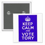 Guarde la calma y vote el ~ Reino Unido político d Pins