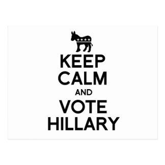 GUARDE la CALMA Y VOTE HILLARY.png Postal