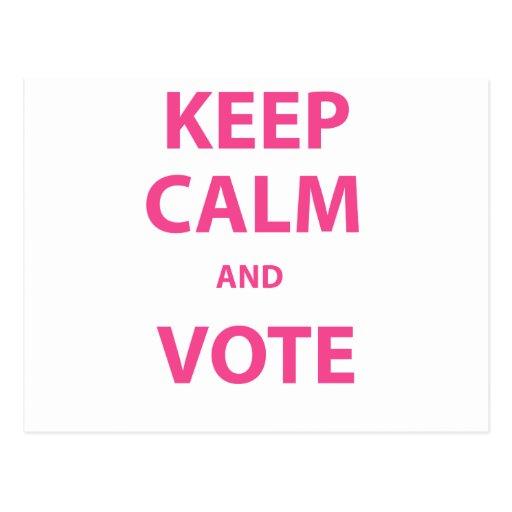 ¡Guarde la calma y vote! Postales