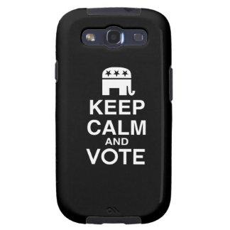 GUARDE la CALMA Y VOTE REPUBLICAN png Samsung Galaxy S3 Fundas