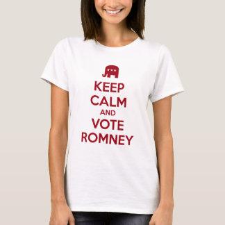 Guarde la calma y vote Romney Playera