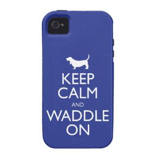 Guarde la calma y Waddle encendido iPhone 4/4S Carcasas