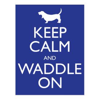 Guarde la calma y Waddle encendido Postales