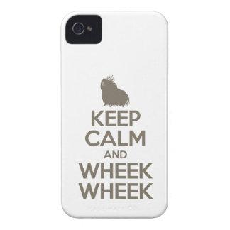 Guarde la calma y Wheek Wheek Case-Mate iPhone 4 Cárcasa