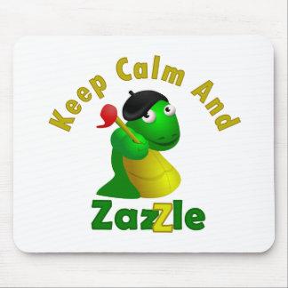 Guarde la calma y Zazzle Alfombrillas De Ratón