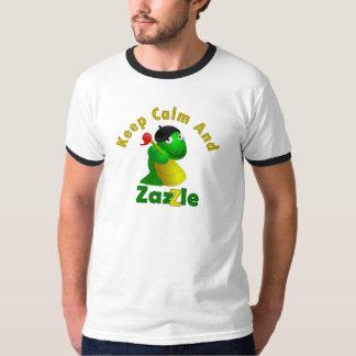 Guarde la calma y Zazzle Playera