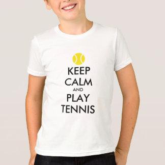 Guarde la camisa de los niños del tenis de la
