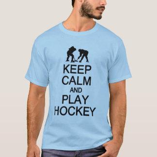 Guarde la camisa del hockey de la calma y del