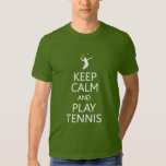 Guarde la camisa del tenis de la calma y del juego