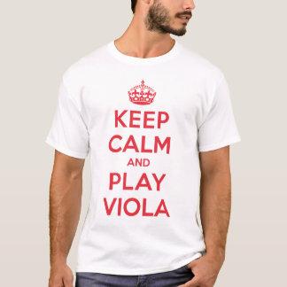 Guarde la camisa tranquila de la viola del juego