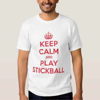 Guarde la camisa tranquila de Stickball del juego