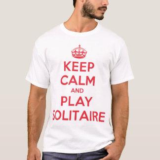 Guarde la camisa tranquila del solitario del juego