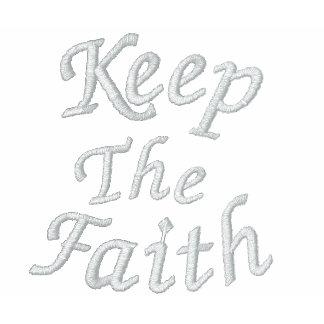 Guarde la camiseta bordada inspirada de la fe