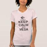Guarde la camiseta de la taza de café de la calma