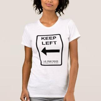 Guarde la camiseta de las señoras izquierdas de la