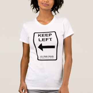 Guarde la camiseta de las señoras izquierdas de la polera
