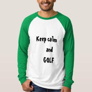 Guarde la camiseta de los hombres de la calma y camisas