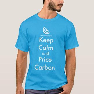 Guarde la camiseta del carbono de la calma y del
