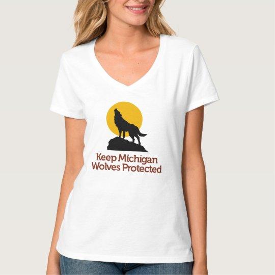 Guarde la camiseta protegida los lobos de