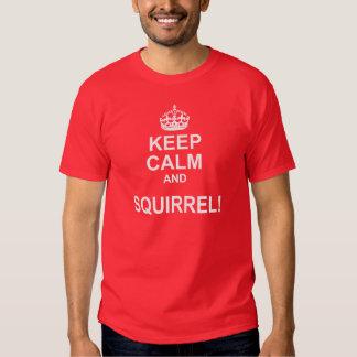 Guarde la camiseta tranquila de la parodia de la remeras
