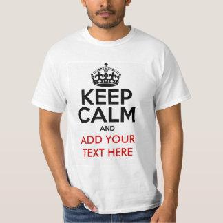 Guarde la camiseta tranquila del personalizar playeras