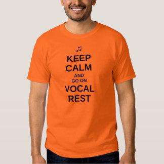"""""""Guarde"""" la camiseta vocal tranquila del resto - Playera"""