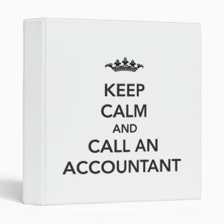 Guarde la carpeta tranquila del contable