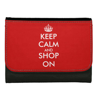 Guarde la cartera tranquila con lema personalizado