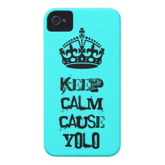 Guarde la causa tranquila Yolo iPhone 4 Case-Mate Protector