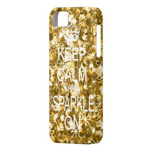 Guarde la chispa tranquila en el caso del iphone 5 iPhone 5 carcasas