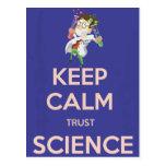 Guarde la ciencia de la calma y de la confianza tarjeta postal