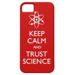 Guarde la ciencia tranquila de la confianza funda para iPhone 5 barely there