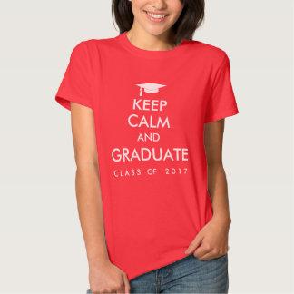 Guarde la clase tranquila y graduada de la remeras