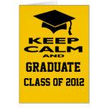 Guarde la clase tranquila y graduada de la tarjeta
