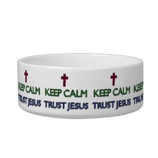 Guarde la confianza tranquila Jesús Tazones Para Agua Para Gatos