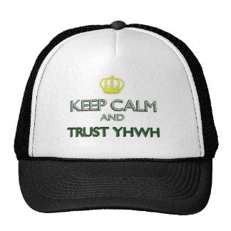 Guarde la confianza tranquila YHWH Gorro De Camionero