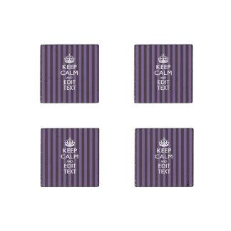 GUARDE LA CORONA TRANQUILA en personalizar púrpura Imán De Piedra