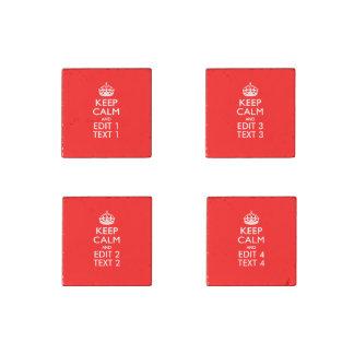 GUARDE LA CORONA TRANQUILA en personalizar rojo Imán De Piedra