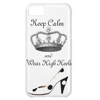 Guarde la corona tranquila funda para iPhone 5C