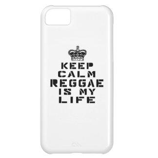 Guarde la danza tranquila del reggae es mi vida funda para iPhone 5C