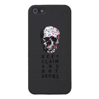 Guarde la demanda y no droga el gráfico del cráneo iPhone 5 cobertura