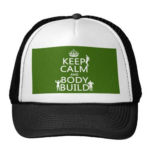 Guarde la estructura de la calma y de cuerpo (el f gorra