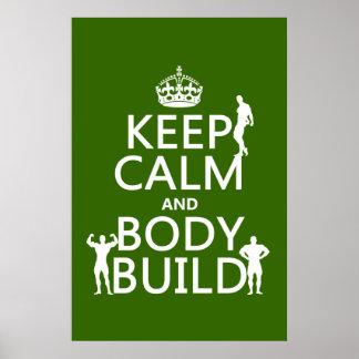 Guarde la estructura de la calma y de cuerpo (el f póster